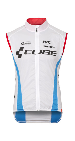 Cube Teamline Pure Windweste Herren white'n'blue'n'red